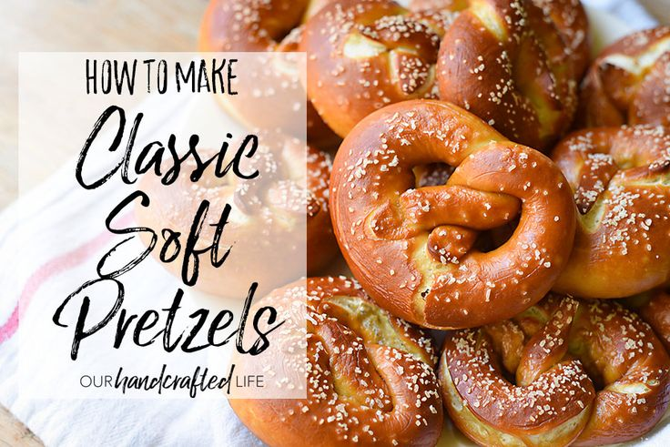Classic Homemade Soft Pretzel Recipe - A delicious recipe for Bavarian or German style soft pretzels. This buttery pretzel recipe can be made into any pretzel bread like pretzel sticks, pretzel bites, pretzel buns, or classic soft pretzels like you would get from Auntie Annies or Pretzel Factory. Learn how to bake bread with this classic recipe. Pair with your favorite beer cheese dip and enjoy! Recipe from Our Handcrafted Life
