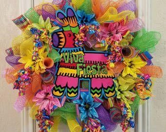 Viva Fiesta Wreath Cinco de Mayo Wreath  Special Order Item