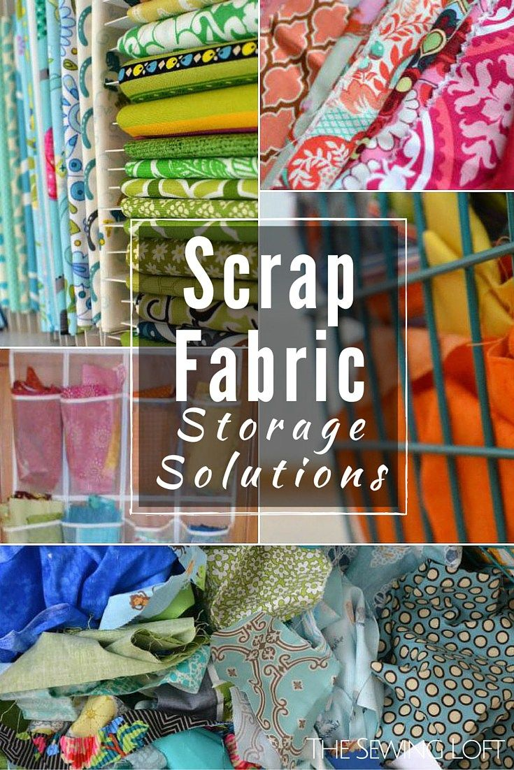 How to organize your fabric scraps!
