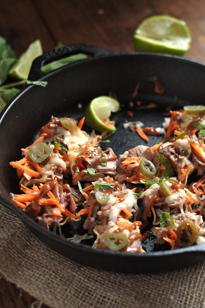 Spicy Thai Beef Nachos! This is a recipe for like their Lodge Cast Iron Recipes with a little kick to them!   Lodge Cast Iron Cookware. Made in Tennessee since 1896!
