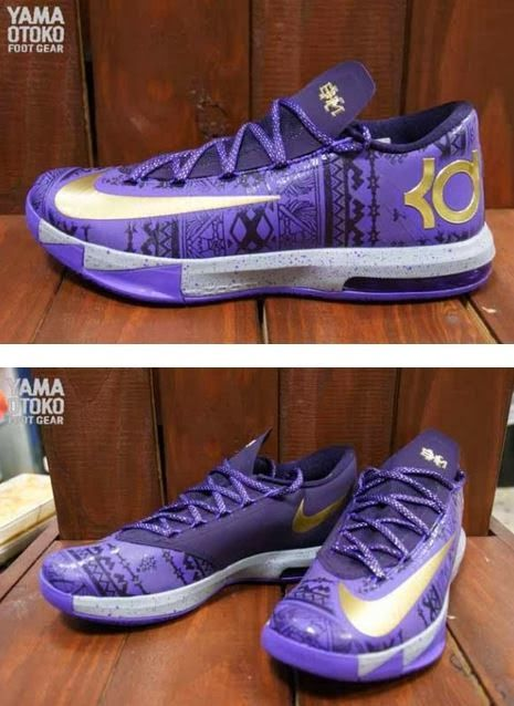 Wholesale Nike KD 6 Cheap sale What the KD 6 Hoop Purple Urgent