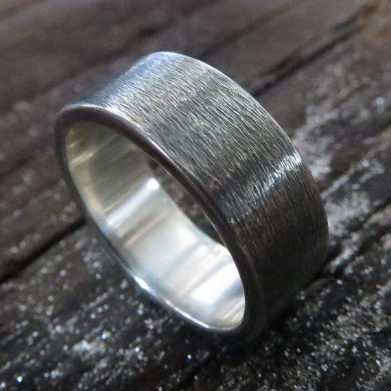 Hey, I found this really awesome Etsy listing at https://www.etsy.com/uk/listing/201034871/mens-wedding-ring-oxidized-sterling