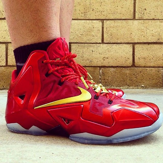 Lebron Xi Redgold Ironman Ids With Red Gold Rope Laces From Www