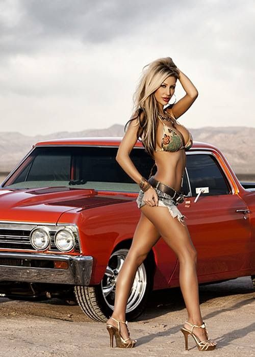 El Camino Never Looked So Good Muscle Car Girls Babes
