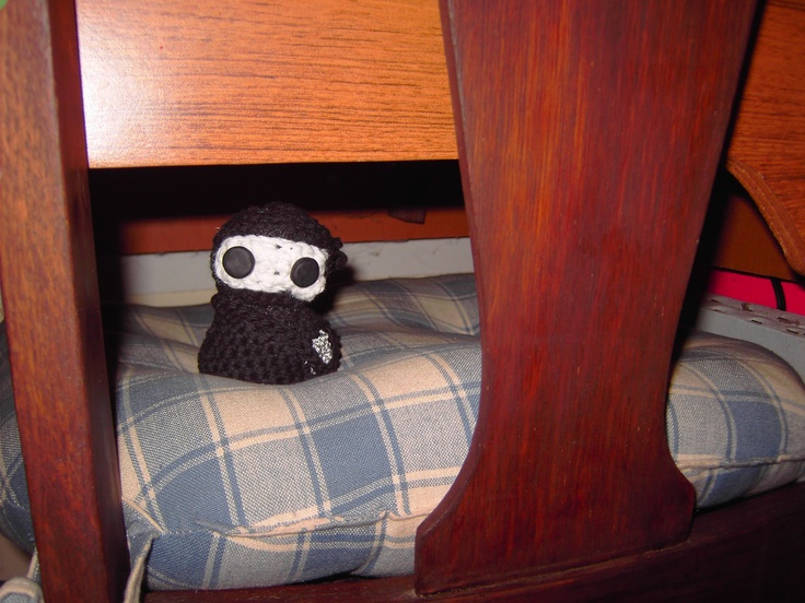 The mini ninja sees all. You never know where you'll find him.