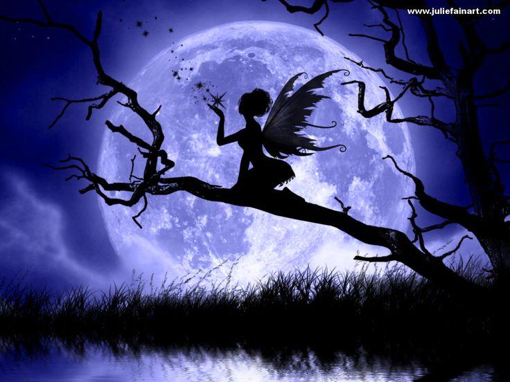 Moon+Fairy+Silhouette+Clip+Art | Fadas, Fairy Wallpapers