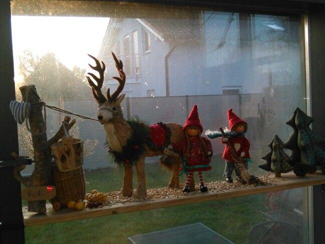 Weihnachtswichtel mit Rentier