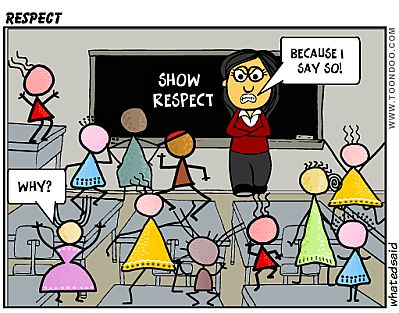 10 ways to get your students� respect� cartoon student