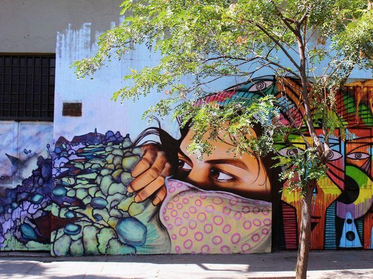 Bellavista, Chile -  Photographer, Sue W.Wall Art, Chile, Street Art Utopia, Rainbows Colors, Urban Art, Graffiti, Art Callejero, Art Street, Streetart