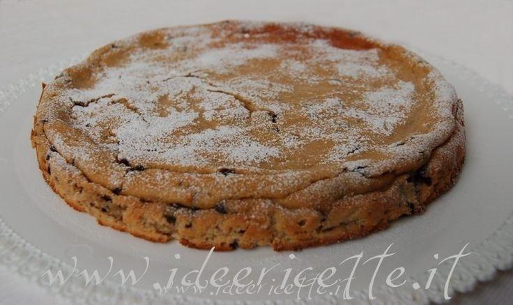 Ricetta Torta ricotta e gocce di cioccolato con farina di castagne
