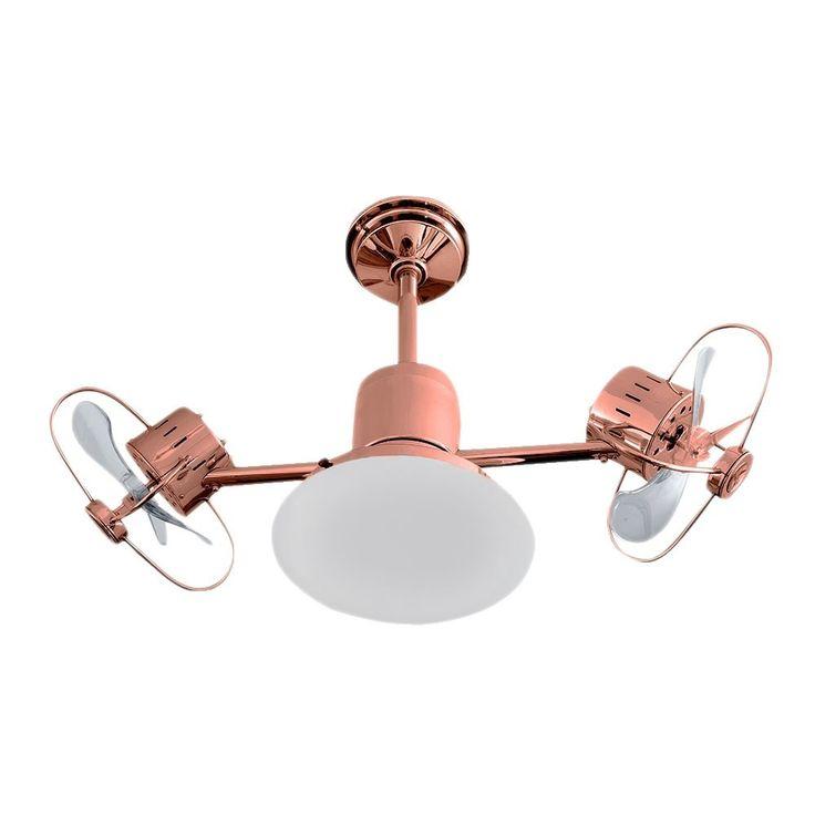Ventilador de teto Infinit Plus bronze com lâmpada led e controle remoto bivolt