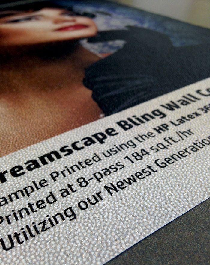 Dreamscape Bling Wallcovering Printed using HP Latex