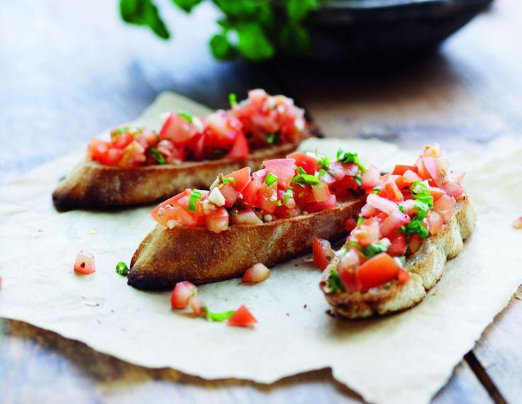 Bruschetta med frisk tomat