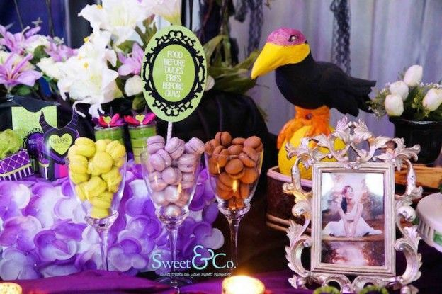 Maleficent Themed 17th Birthday Party via Kara's Party Ideas KarasPartyIdeas.com The Place for All Things Party! #maleficent #maleficentparty #sleepingbeauty #maleficentpartyideas (15)