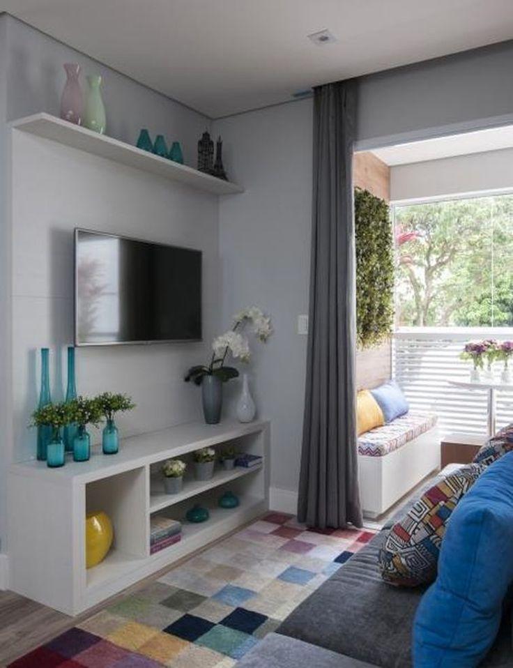 Pin By David Meneces On Tv Moderno: 'Sala De Estar Apartamento Decorado JGG Adriana Fontana