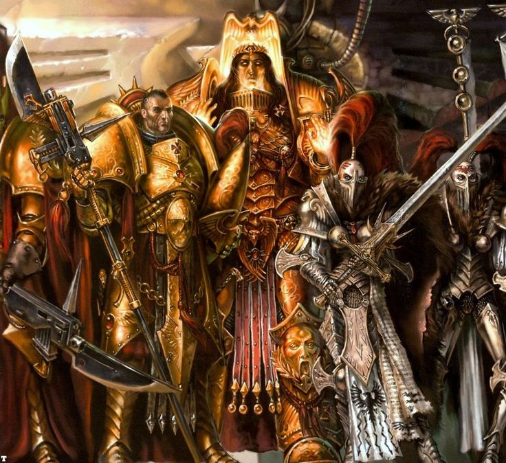 The Adeptus Custodes, known as the Legio Custodes until after the Horus Heresy, is the Imperial Adepta responsible for guarding the Imperial Palace and the physical body of the Emperor of Mankind. They are a group of 10,000 genetically-engineered superhumans who are even more potent in combat than the Adeptus Astartes and who serve as the Emperor's personal guardians and praetorian bodyguard. Since the Emperor's internment in the Golden Throne following the Horus Heresy ten millennia ago...