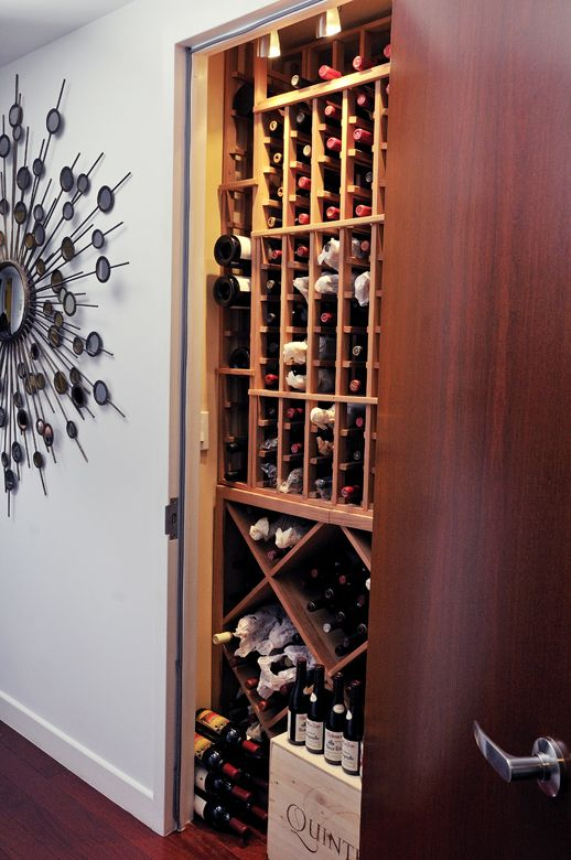 No Room For A Wine Cellar Put One In A Closet Closets: turn closet into wine cellar