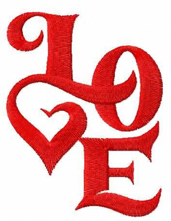 Love free embroidery design. Machine embroidery design. www.embroideres.com