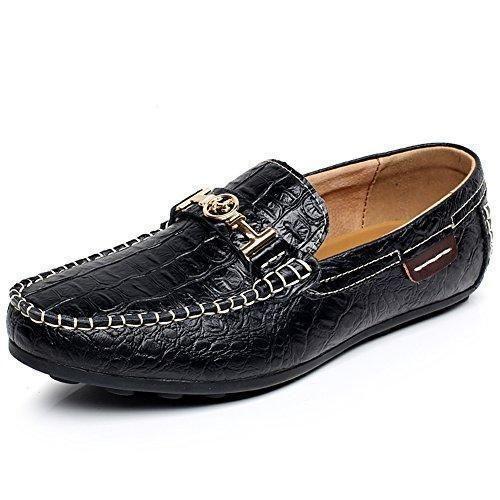 Oferta: 32.5€ Dto: -50%. Comprar Ofertas de Shenn Hombres Negro Piel de Cocodrilo Zapatos de Negocio Ponerse Holgazanes de Conducción 1314 EU43 barato. ¡Mira las ofertas!