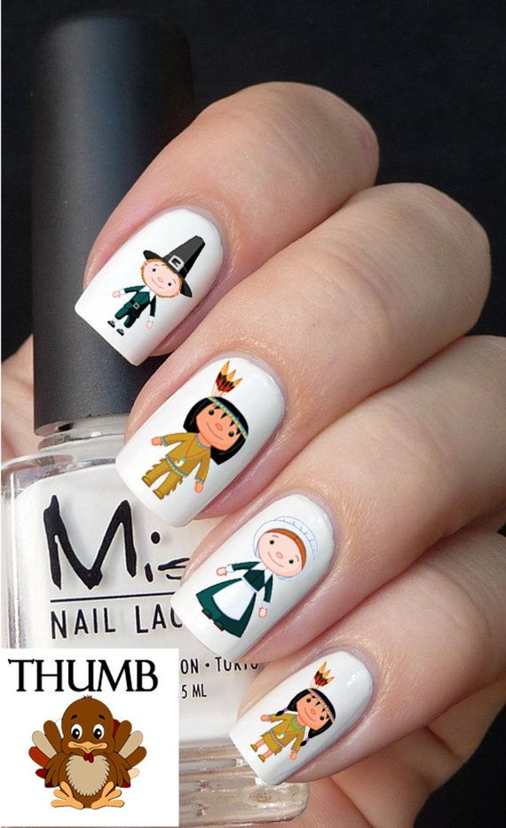1000+ Images About Thanksgiving Nail Designs On Pinterest
