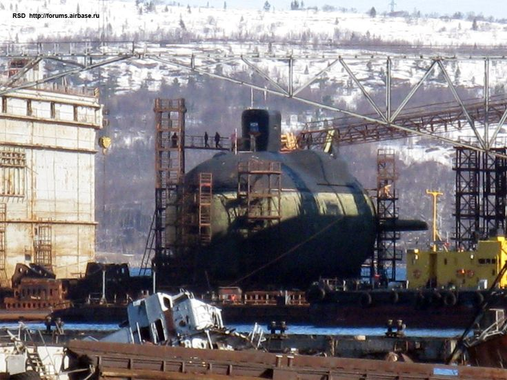 Russian Borei-class SSBN in dry dock [1134  850]