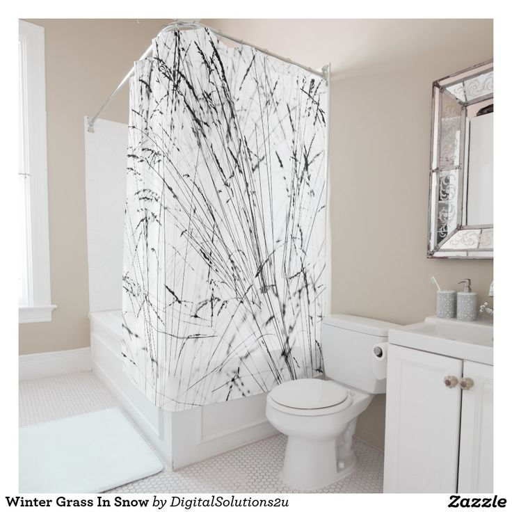 Winter Grass In Snow Shower Curtain
