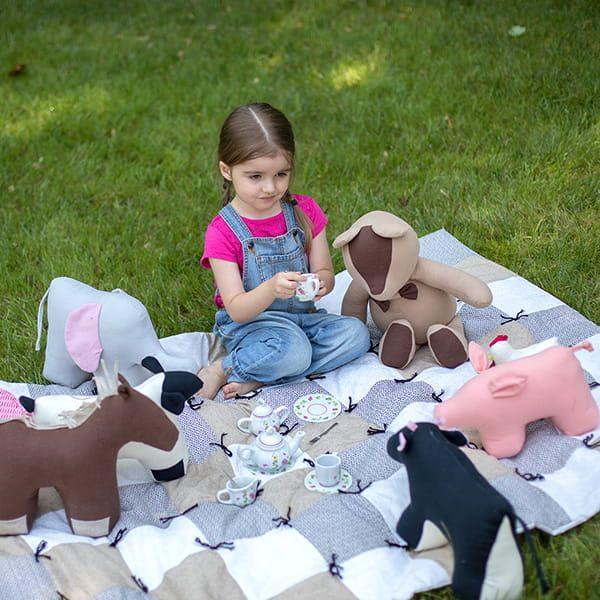 Eli & Mattie Stuffed Farm Animal Toy Set