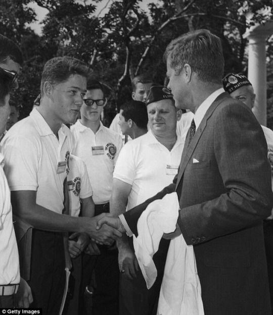 Bill Clinton meeting JFK, 1963
