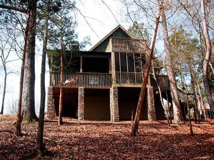 Water's Edge is a small lake or mountain house plans with a wraparound porch that will work great at the lake or in the mountains.