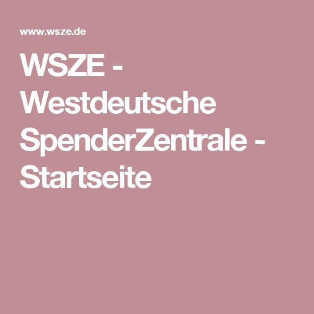 WSZE - Westdeutsche SpenderZentrale - Startseite