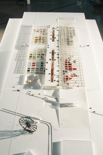 PEX Toulouse / OMA  Padiglione, centro espositivo nella campagna francese   prendere spunto per la scelta  degli assi e la divisione dei giardini