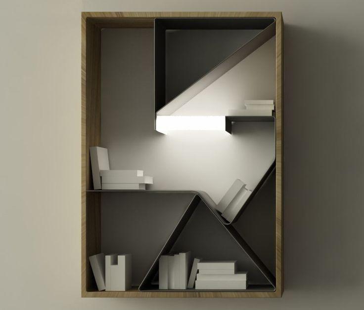 Ράφια για βιβλία Graffititek με ενσωματωμένο φωτισμό. - Design Is This