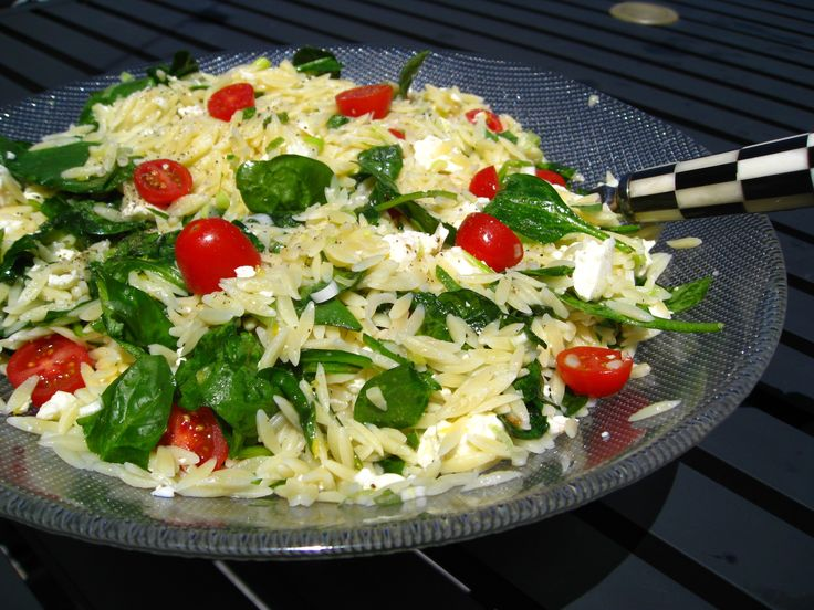 Orzo Summer Salad/ great with Greek seasoning added.