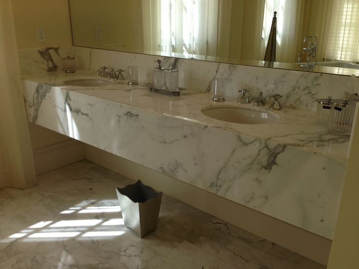 White / Grey Bathroom Countertop With Oval Undermount Sinks | ADP Surfaces  Of Orlando, Florida