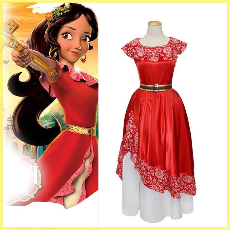 Movie Elena of Avalor Cosplay Costume Princess Elena Dress Halloween Party Red Fancy Dress - http://fashionfromchina.net/?product=movie-elena-of-avalor-cosplay-costume-princess-elena-dress-halloween-party-red-fancy-dress