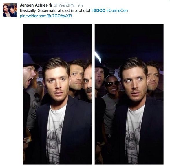 Jared and Misha in the back tho...