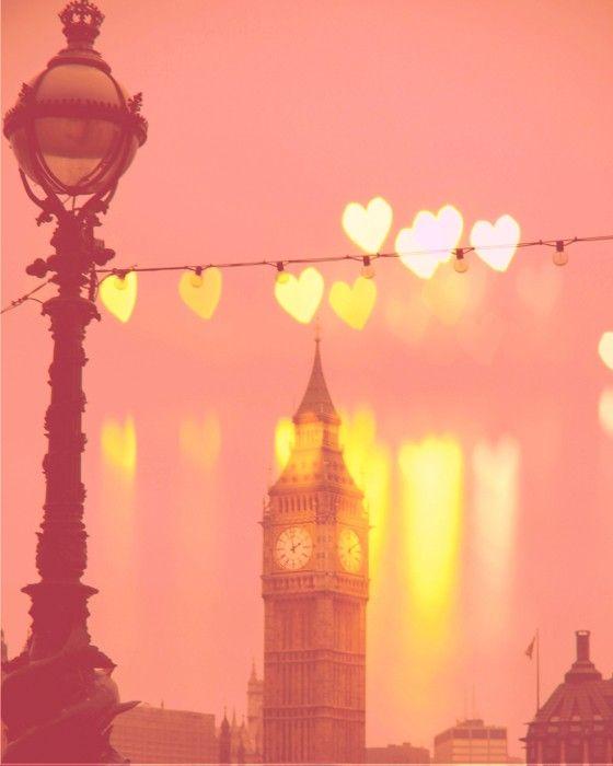 London, Big Ben photo -Night Rainbow - Fine Art Photography Print of Big Ben in London, England - 8x10 - pink. $29.00, via Etsy.
