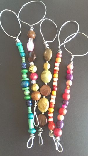 Really cute beaded bubble wands, made for our school fete.
