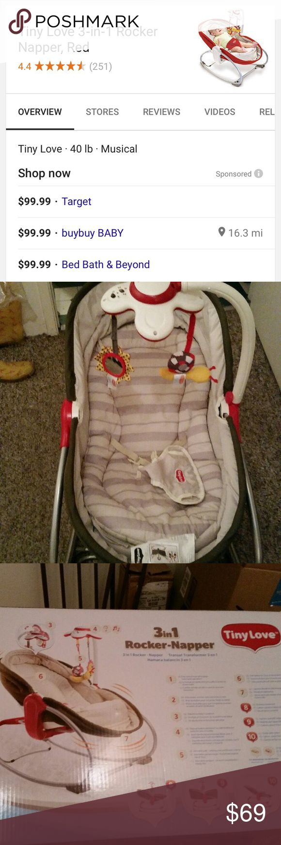 Tiny Love Rocker napper bed Tiny Love 3 in 1.  Rocker napper bed with mobile attachment Accessories