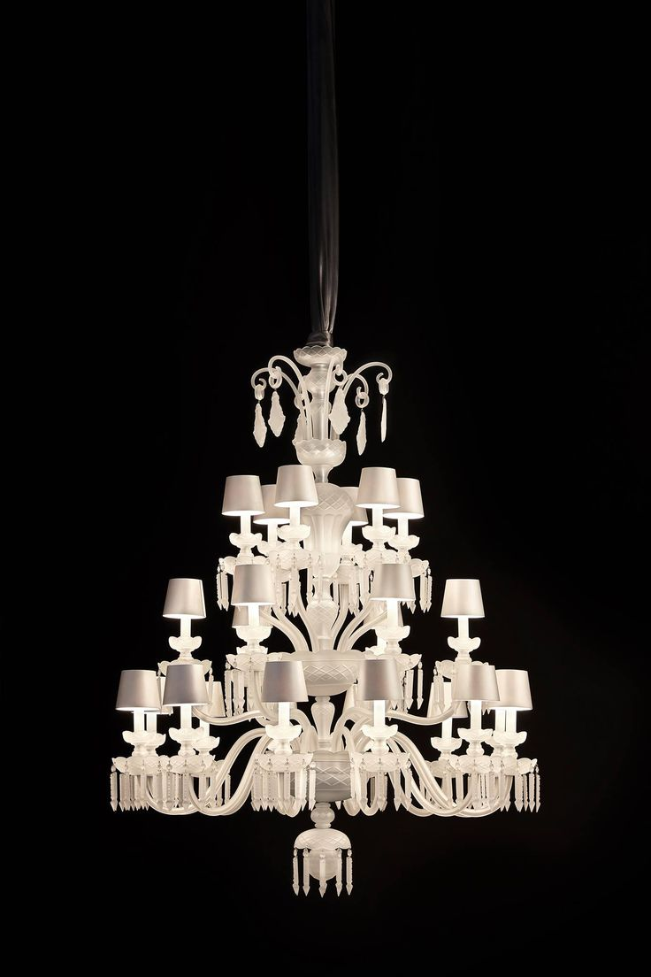 Rudolf, our cut crystal chandelier, veiled in contemporary colours. #preciosamilan, #preciosalighting #light #lighting #designlighting #luxurydesign #interiorstyle #hospitalitydesign #crystal #bohemiancrystal #chandelier #cultivationofchandelier #brilliance #euroluce #euroluce2017 #architecturelovers #milandesignweek #milandesignweek2017 #milan