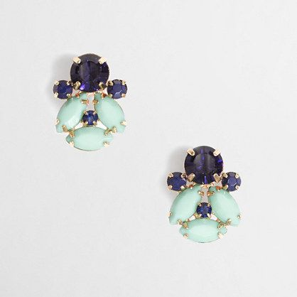 stone cluster earrings / j.crew factory