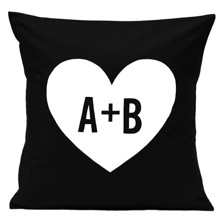 Love heart personalised cushion cover - hardtofind.