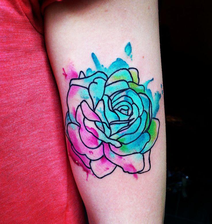 rose tattoo watercolor tattoo watercolour abstraktart art and tattoo pinterest watercolors. Black Bedroom Furniture Sets. Home Design Ideas