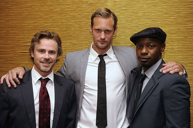 From left: Sam Trammell, Alexander Skarsgård and Nelsan Ellis. KZ: is left speechless, soooo handsome.