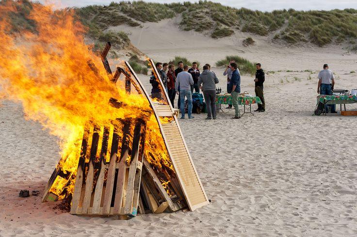 BBQ op het strand tijdens een bedrijfsuitje