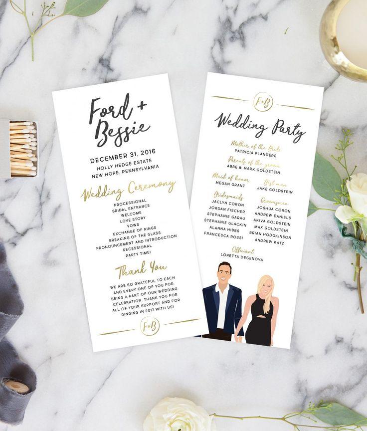 Best  Wedding Program Illustrations Ideas On