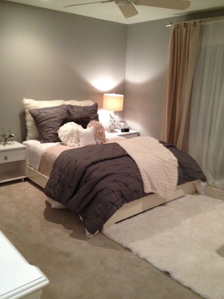 Grey Beige White Calming Colors For A Bedroom For