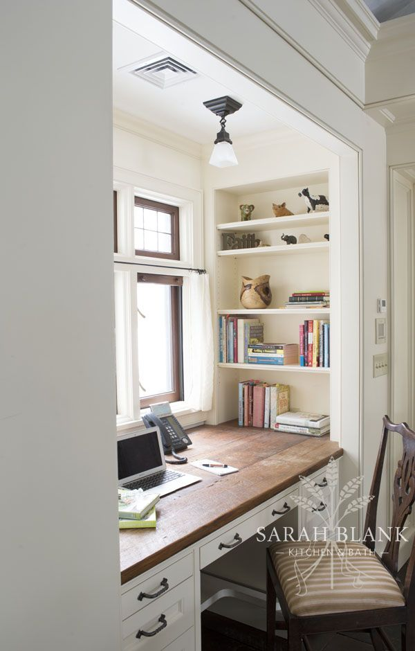 A home office area off of the