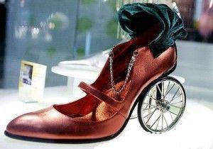 parece uma carruagem, mas é um sapato