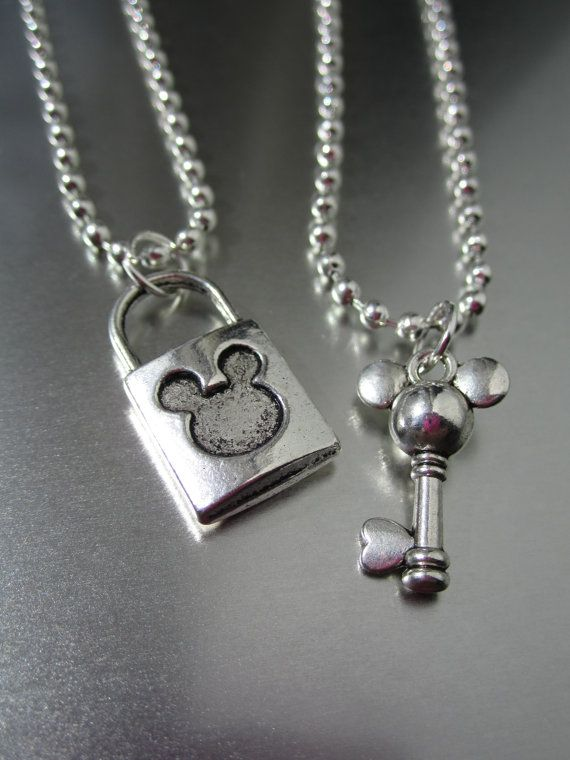 Home › FlipsideCreations › LOVE Couples Sets  Favorite  Like this item?  Add it to your favorites to revisit it later.  DISNEY MICKEY - Loving Lock and Key Set - His and Hers . U Choose Necklaces - Wedding - Anniversary - Couple - Love - Steampunk $14.00 on esty.com